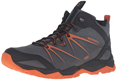 Men's Merrell Capra Rise Mid Waterproof Hiking Boots Black I94q8862