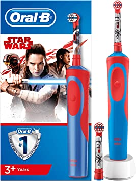 Oferta amazon: Oral-B Stages Power Kids - Cepillo Eléctrico Recargable para Niños con Personajes de Star Wars de Disney, 1 Mango, Cabezal de Recambio x 2