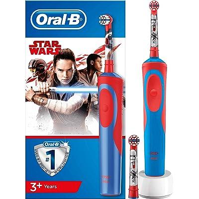 Oral-B Stages Power Kids - Cepillo Eléctrico Recargable para Niños con Personajes de Star Wars de Disney, 1 Mango, Cabezal de Recambio x 2