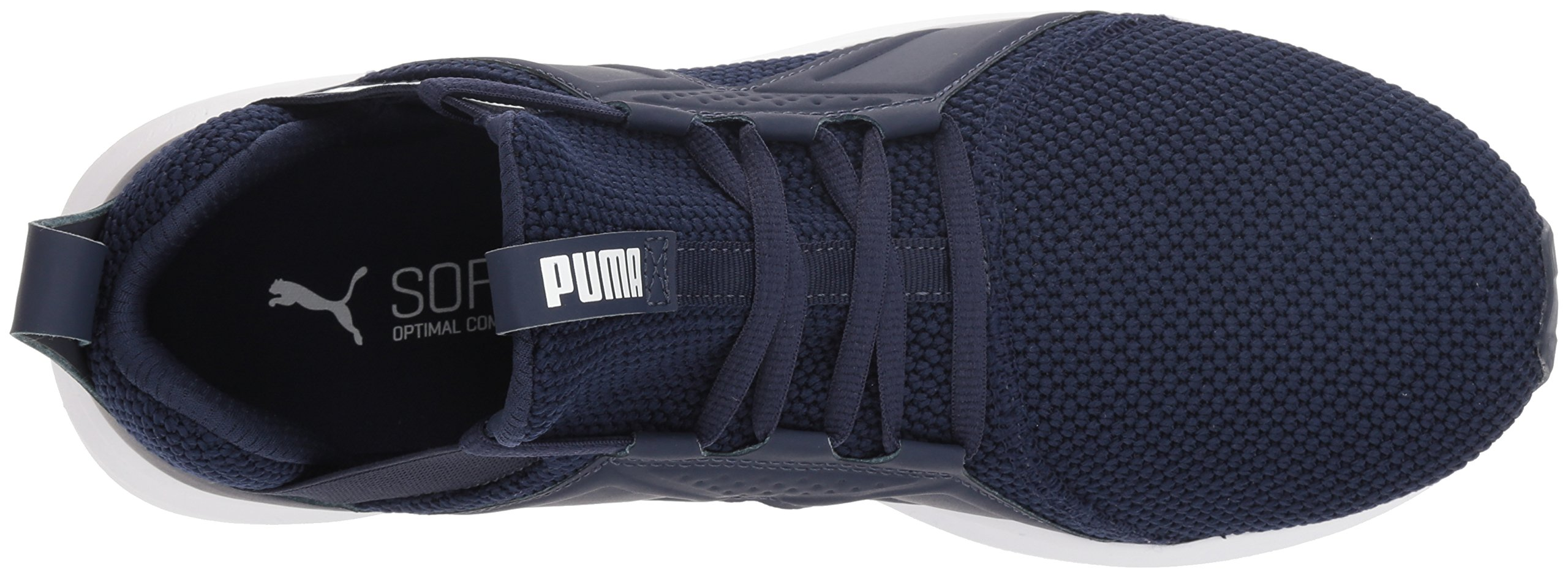 PUMA Men's Enzo Weave Sneaker, Peacoat White, 9 M US by PUMA (Image #7)