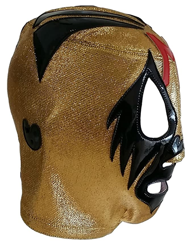 Amazon.com: Deportes Martinez Adult Professional Mil Mascaras Lucha Libre Mask One Size Gold: Clothing