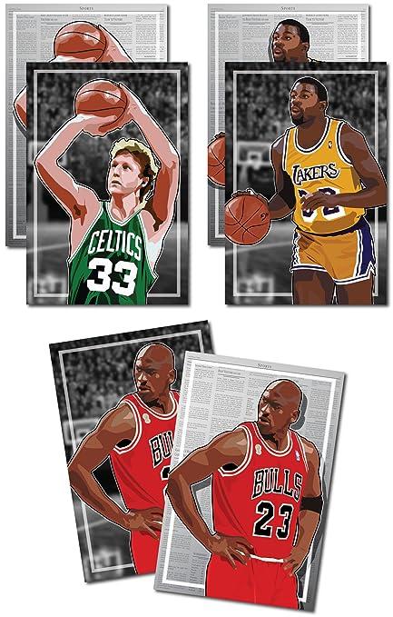 ea0ea5ced54c Amazon.com  3 Posters of 80 s-90 s NBA - Michael Jordan