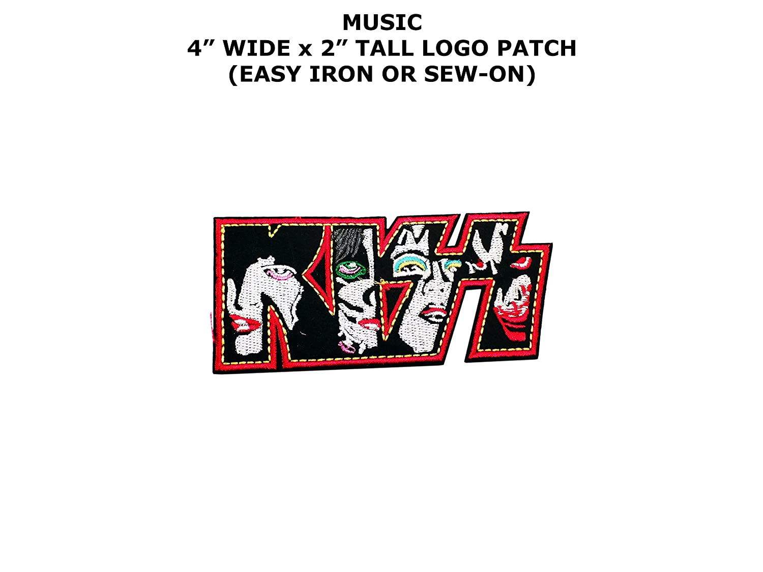 Kiss Faces Rock Band Singer Embroidered Iron/Sew-on Music Theme Logo Patch/Applique
