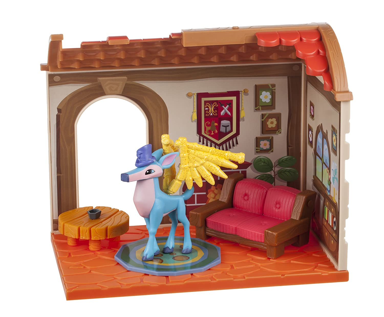 Animal Jam Princess Castle Den With Limited Edition Fancy Fox Playset Jazwares Domestic 16871