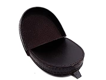 8ca6e99b066b Mens Real Leather Coin Tray Purse Large Coins Pouch Wallet (Black)