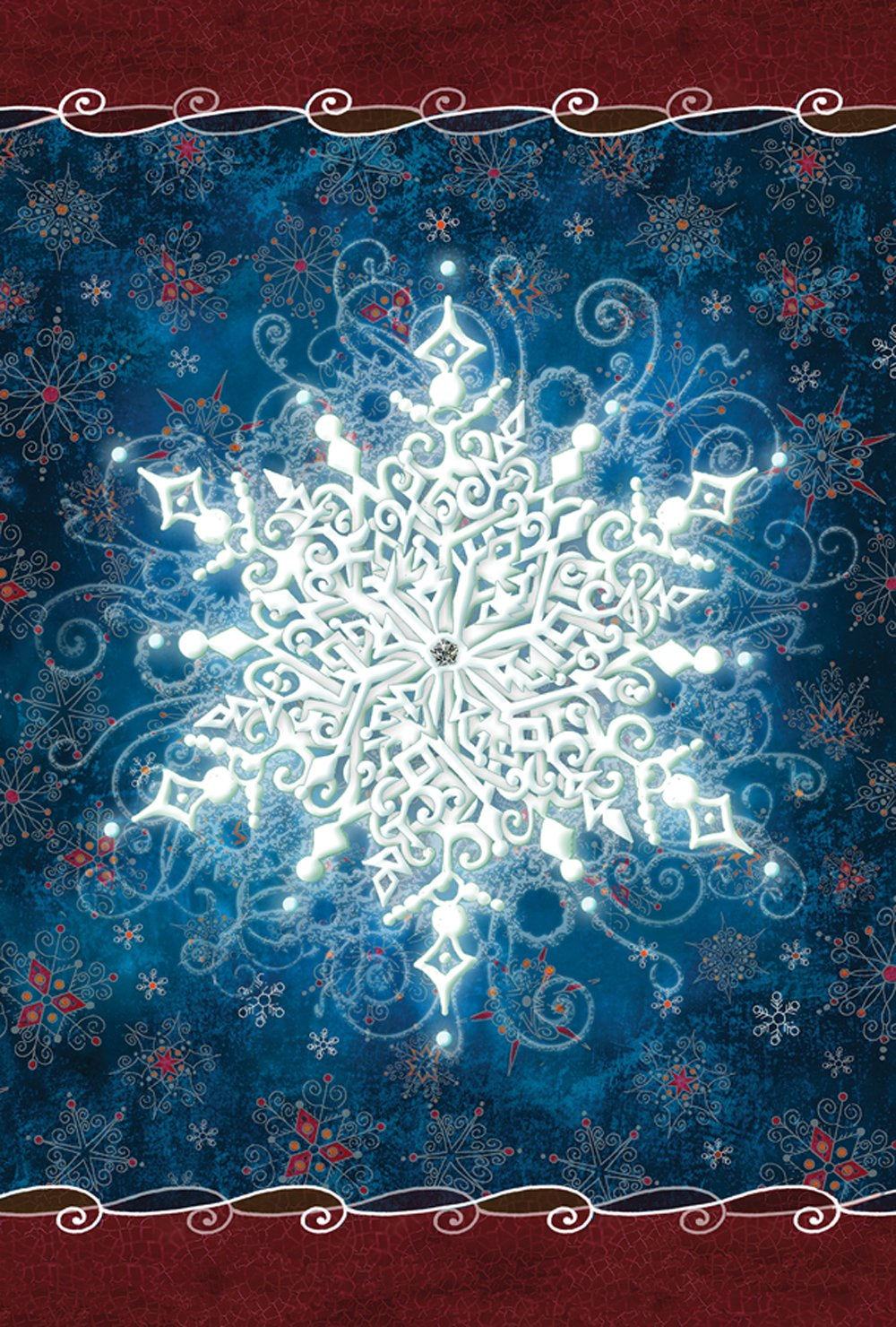 Toland Home Garden Solo Snowflake 28 x 40 Inch Decorative Winter Design House Flag (1010546)