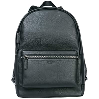 23ee45d29413 ... top quality michael kors mens leather rucksack backpack travel bryant  black 9130e 0fa10