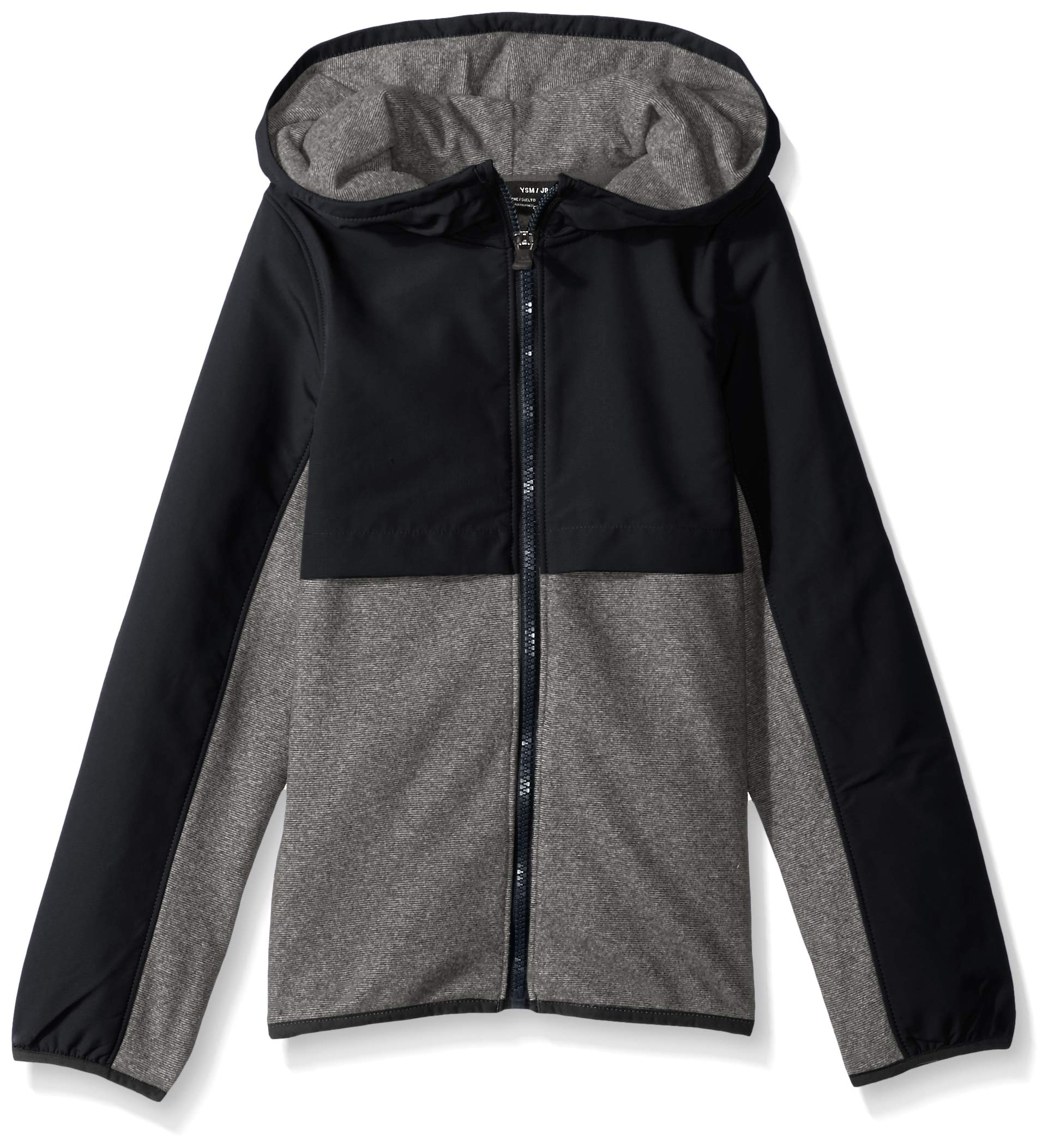 Under Armour Girls Phenom Fleece Full Zip Hoodie,Black /Black, Youth Large by Under Armour