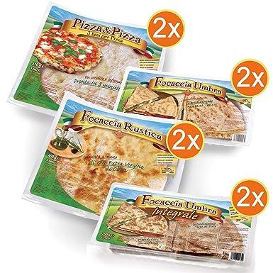 KIT HORNO 2 paquetes Bases de Pizza + 2 paquetes Focaccia Rustica ...