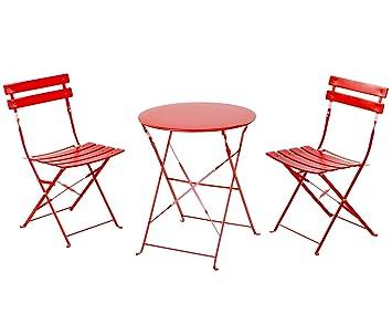 grand patio premium steel patio bistro set folding outdoor patio furniture sets 3 piece