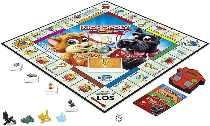 Hasbro Gaming Monopoly Junior Electronic Banking Juego Infantil versión Alemana (Hasbro E1842100): Amazon.es: Juguetes y juegos