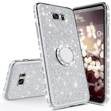 Robinsoni Funda Compatible con Samsung Galaxy S7 Edge Brillo ...