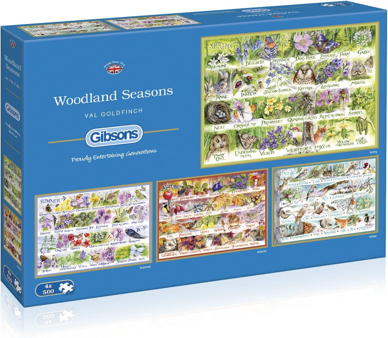Puzzle: 500 sale Woodland New products world's highest quality popular Puzzles 4 Seasons