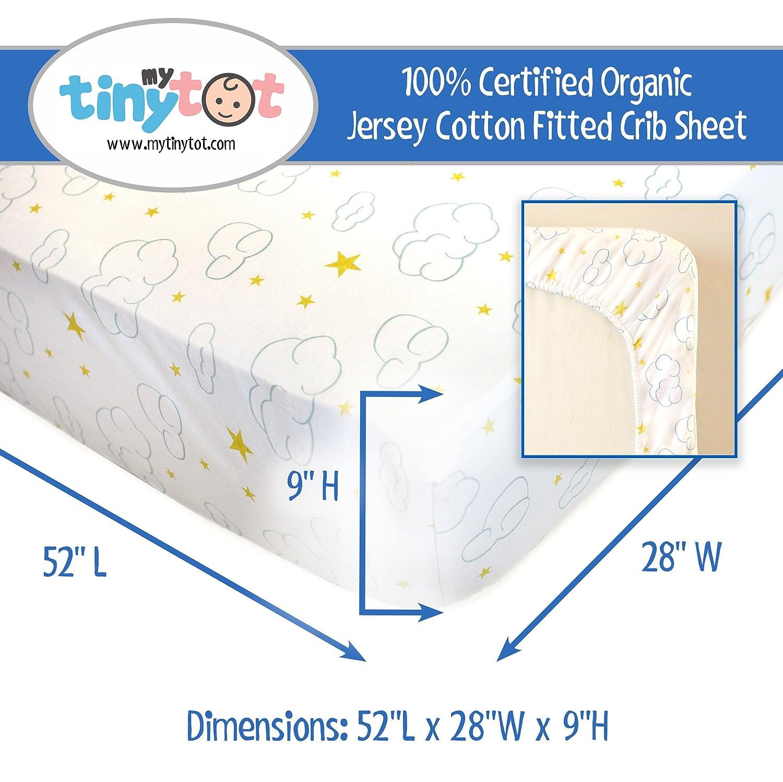 amazon com fitted crib sheets 100 organic jersey cotton 2