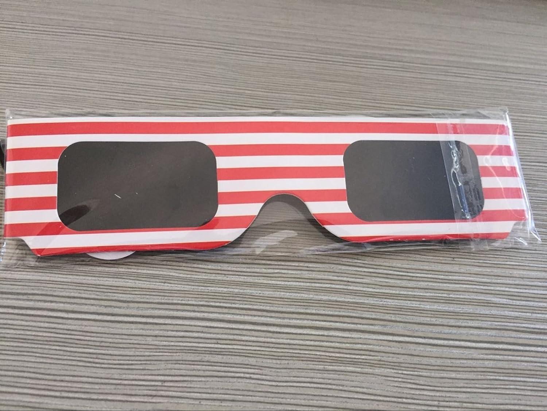 PDFGO Neu Sonnenfinsternis Brillen Sonnenbrillen Sonnenaufgang Whole Foods Schutzbrillen Astronomie Beobachtung Beobachten Sonnenbrille Unisex,B