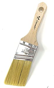 Colorantic | Angle Chalk Based Paint Brush | Silk Brush Art and Craft Home Decor Paint Brushes Walls Trims House Tools (38mm Angle Natural Brush)
