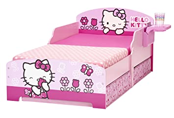 Hello Kitty Toddler Bed With Underbed Storage And Shelf
