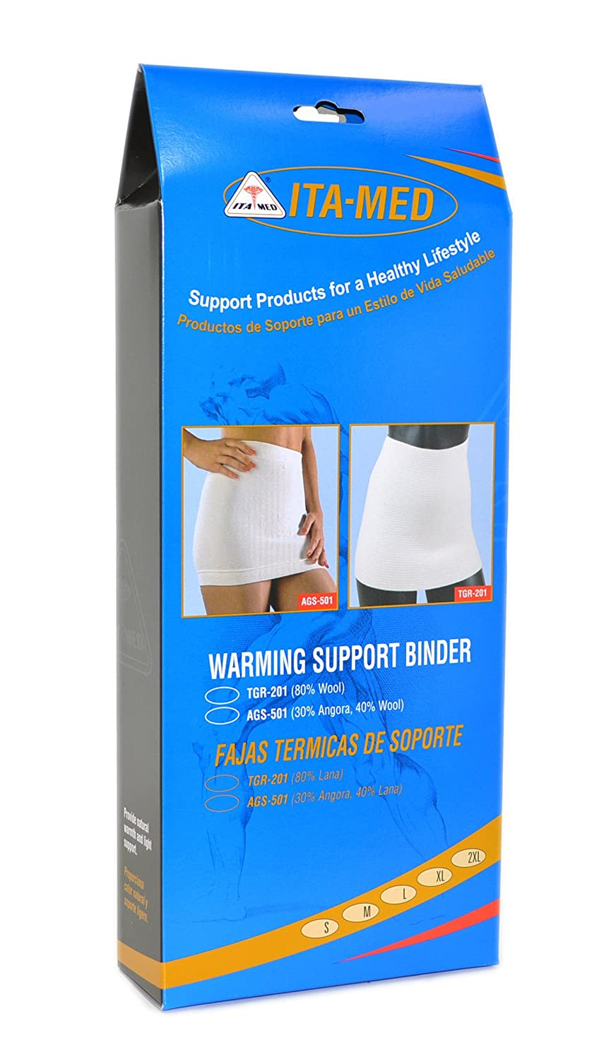 Amazon.com: ITA-MED Wool Warming Support Binder Belt Brace, S: Health & Personal Care