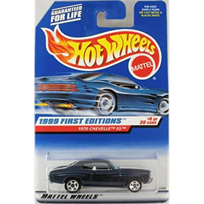 Hot Wheels 1999 First Editions 1:64 Scale Blue 1970 Chevelle SS Die Cast Car #004: Toys & Games