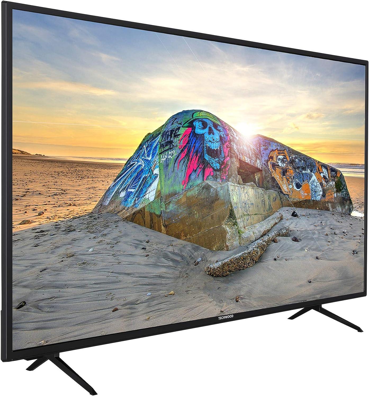 Techwood U43XA53B 43 Zoll Fernseher Modelljahr 2020 Android TV inkl. Prime Video // Netflix // YouTube, 4K UHD mit Dolby Vision HDR // HDR 10 + HLG, Bluetooth, Triple-Tuner