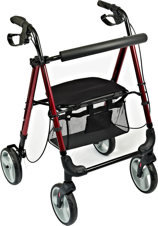 NRS Healthcare M87719 - Andador de cuatro ruedas ligero