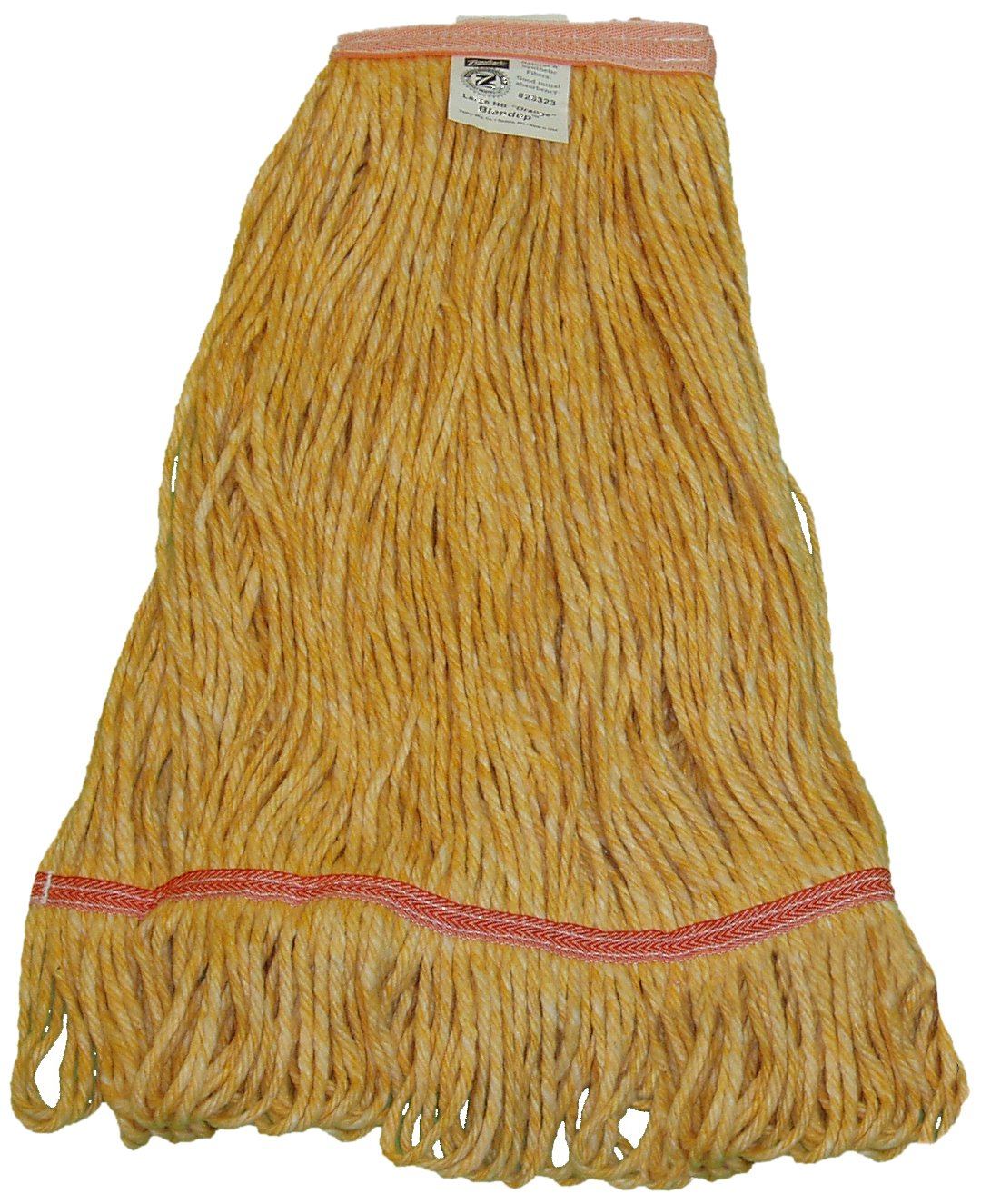 Zephyr 26324 Blendup Orange Blended Natural and Synthetic Fibers X-Large Loop Mop Head with 1-1/4'' Narrow Headbands (Pack of 12)