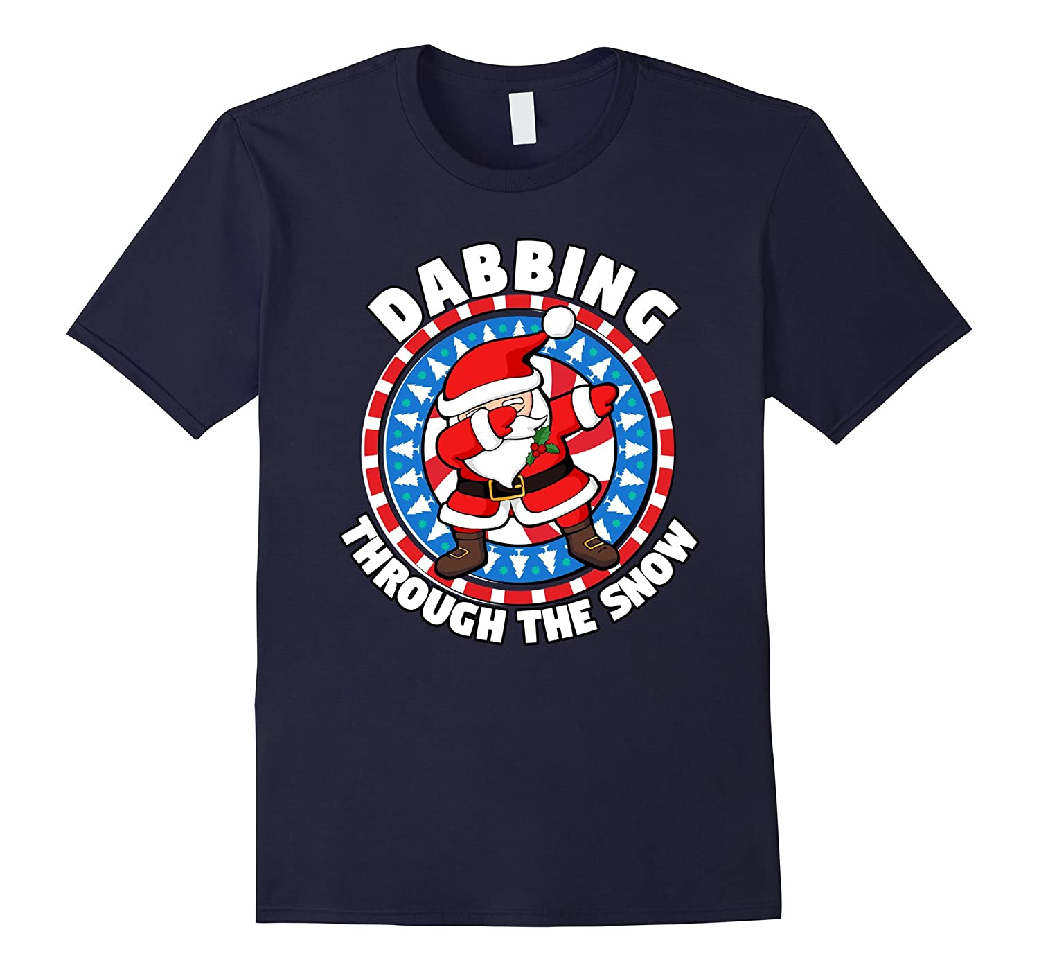 Dabbing Through the Snow Dabbing Santa Christmas Dab Shirt
