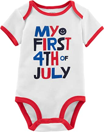 American Flag Love Baby Bodysuit Long Sleeve 4th of July One Piece Top for Baby Independence Day Baby Gifts Patriotic Bodysuit for Baby