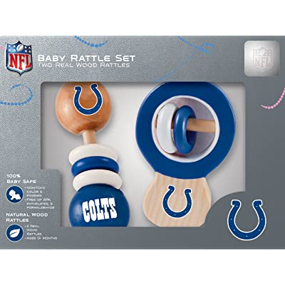 NFL Indianapolis Colts Baby Rattle Set - 2 Pack: Sports & Outdoors