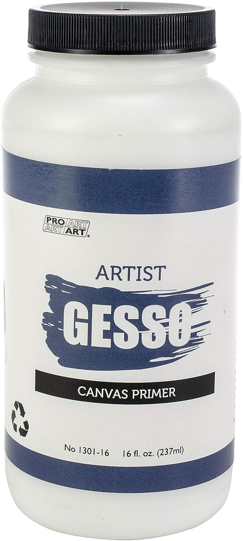 Pro-Art SG130180 16-Ounce Premium Gesso Canvas Primer