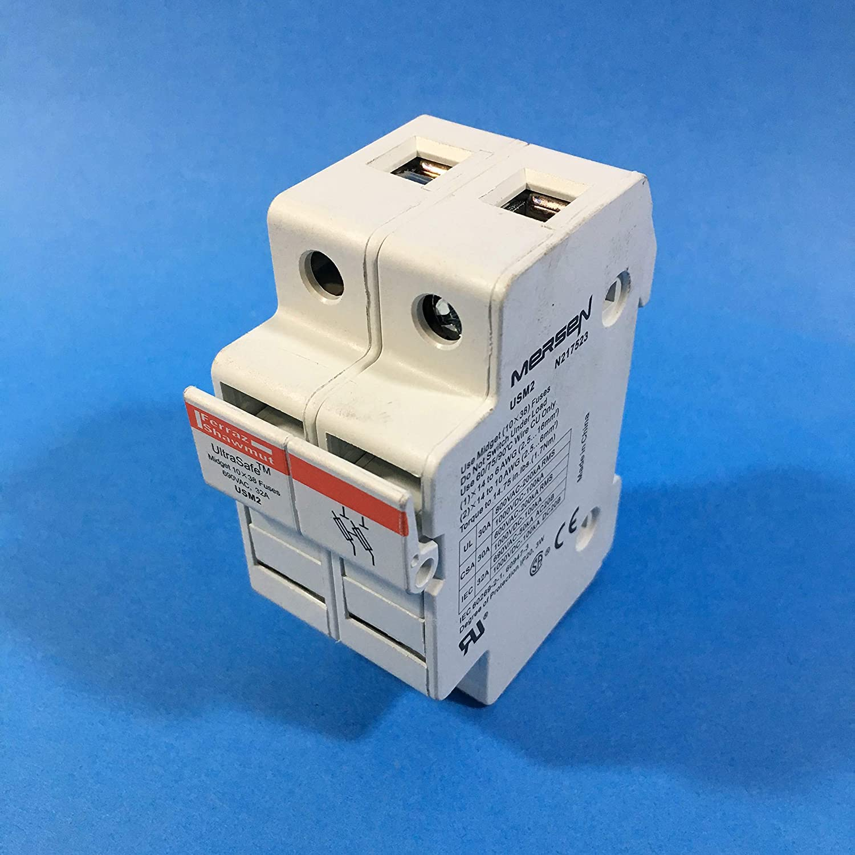 Mersen USCC UltraSafe Modular Fuseholder 200kA For 600VAC//VDC 30 Ampere Class CC Fuse 1 Pole