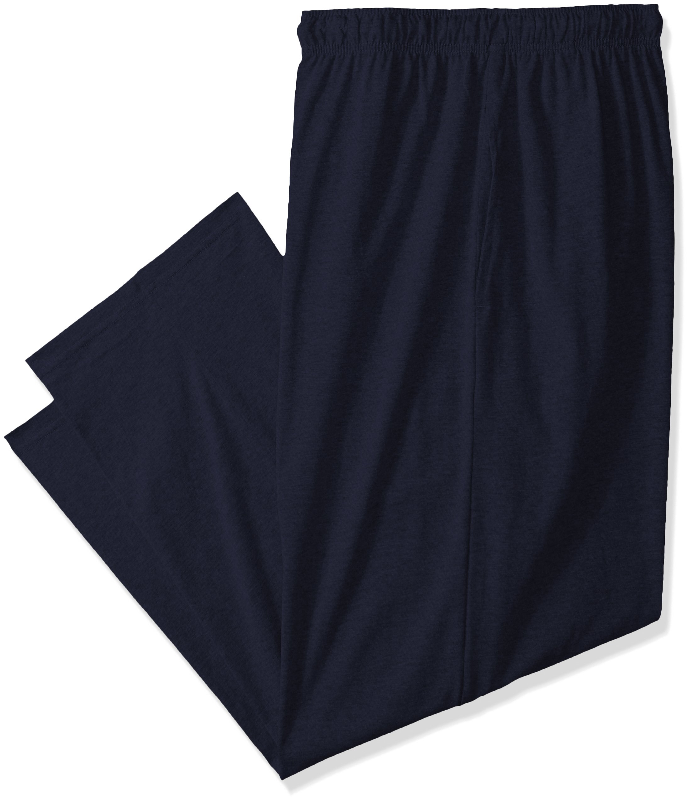 Fruit of the Loom Men's  Jersey Knit Sleep Pant, Navy, Large