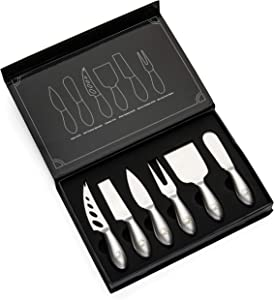 Hudson Essentials Stainless Steel Cheese Knife Set – 6 Knives