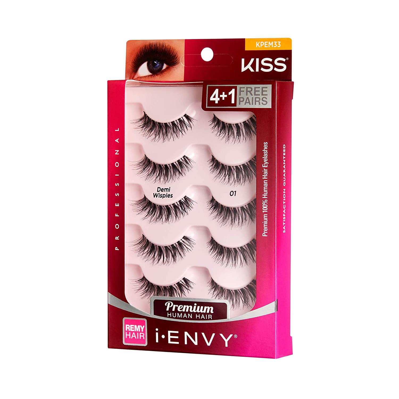 7ea2278a3fc Amazon.com : Kiss I Envy Beyond Naturale 01 Lashes Demi Wispies Value Pack  : Beauty