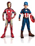 Marvel - 155014l - Déguisement Pour Enfant - Bi Pack - Avengers 2 Iron Man + Captain America - Taille L