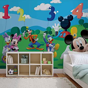 Papier Peint Photo Mural 4 029p8 Collection Disney Minnie Mickey