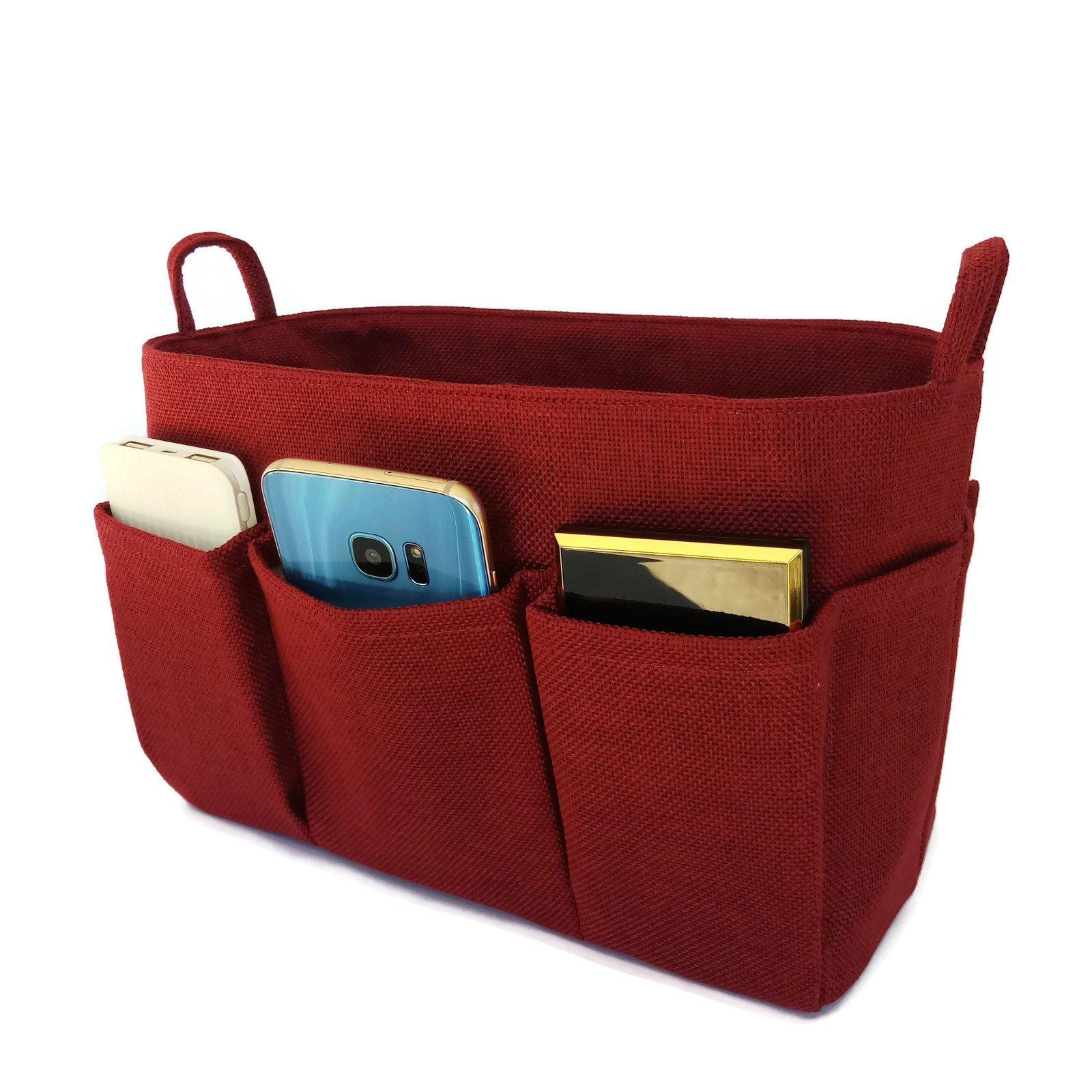 K&M Quality Product Medium Purse Organizer Insert, Tote Organizer, Handbag Organizer : Medium Size by K&M (Wine Red)