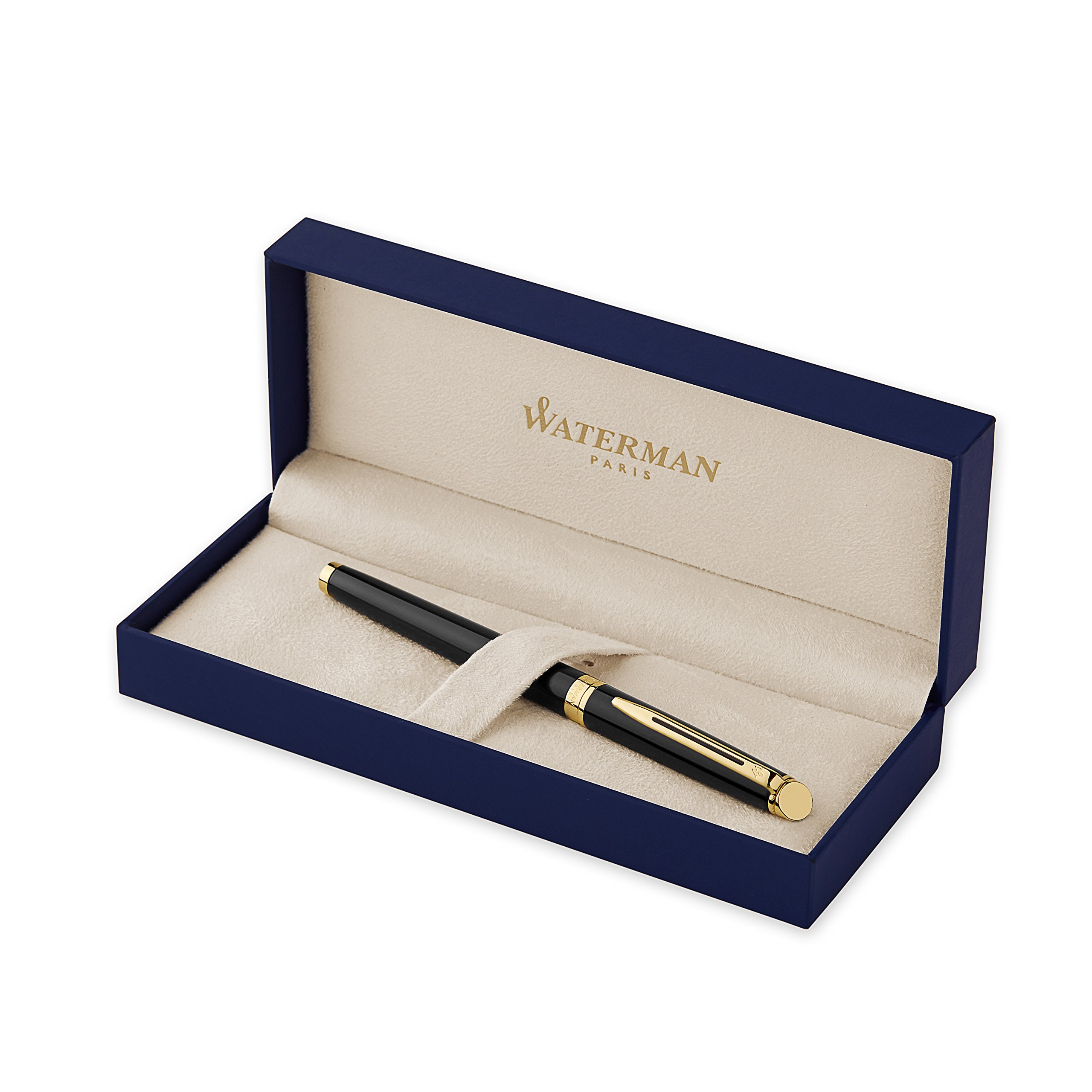 Waterman Hemisphere Essential Black Lacquer Gold Trim -...