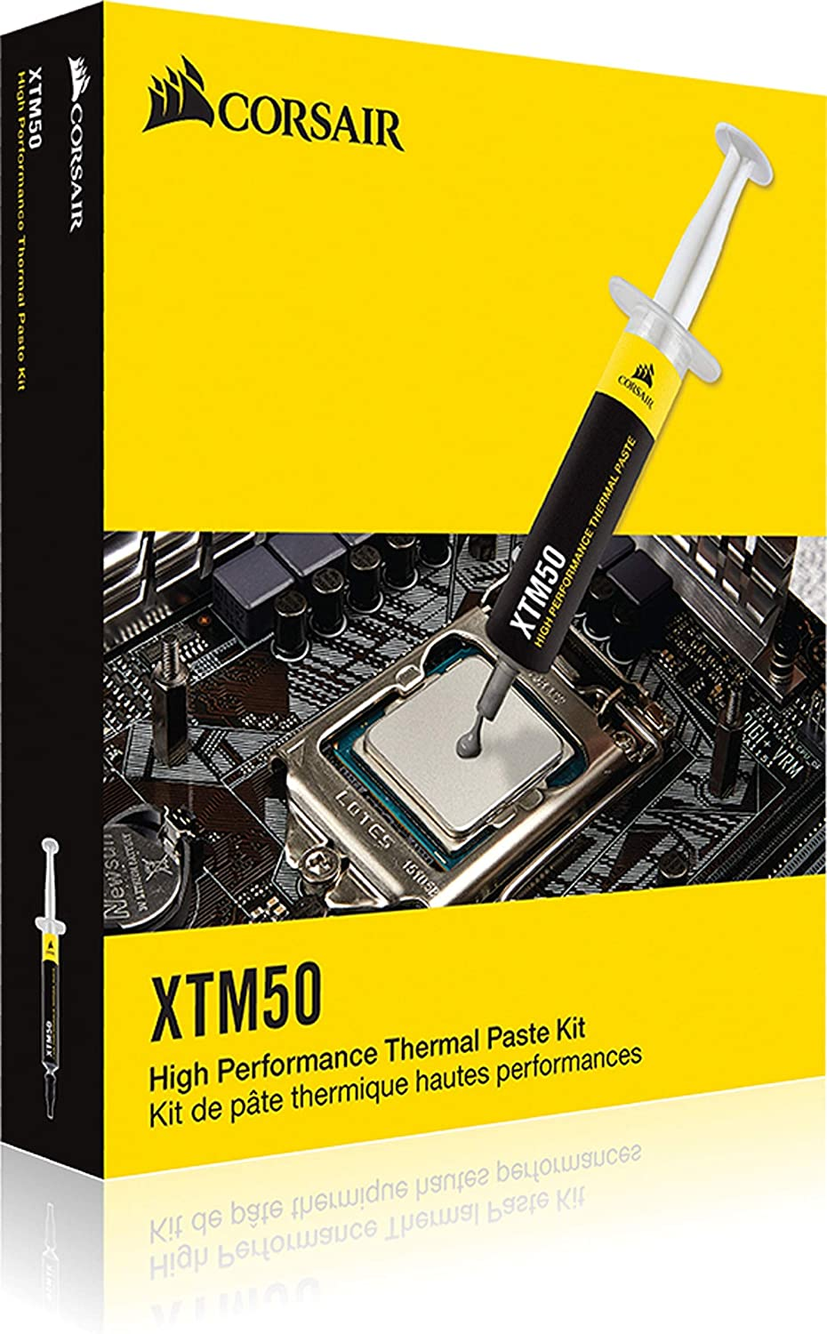 CORSAIR XTM50 High Performance Thermal Compound Paste|Ultra-Low Thermal Impedance CPU/GPU|5 Grams|w/applicator