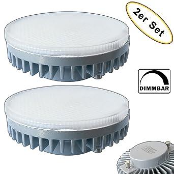 2 x GX53 LED regulable blanco cálido 220/230 V Foco Bombilla Lámpara – Juego