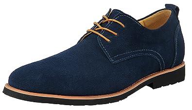 c8a54b88dd Schnürer Herren Derby Blau Leder Schnürhalbschuhe Männer Jungen Herren  Oxford-Schuhe Geschäft 39.5 EU -