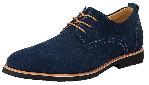 iLoveSIA Chaussures de Ville Homme Cuir Nubuck Oxfords à Lacets Derbies