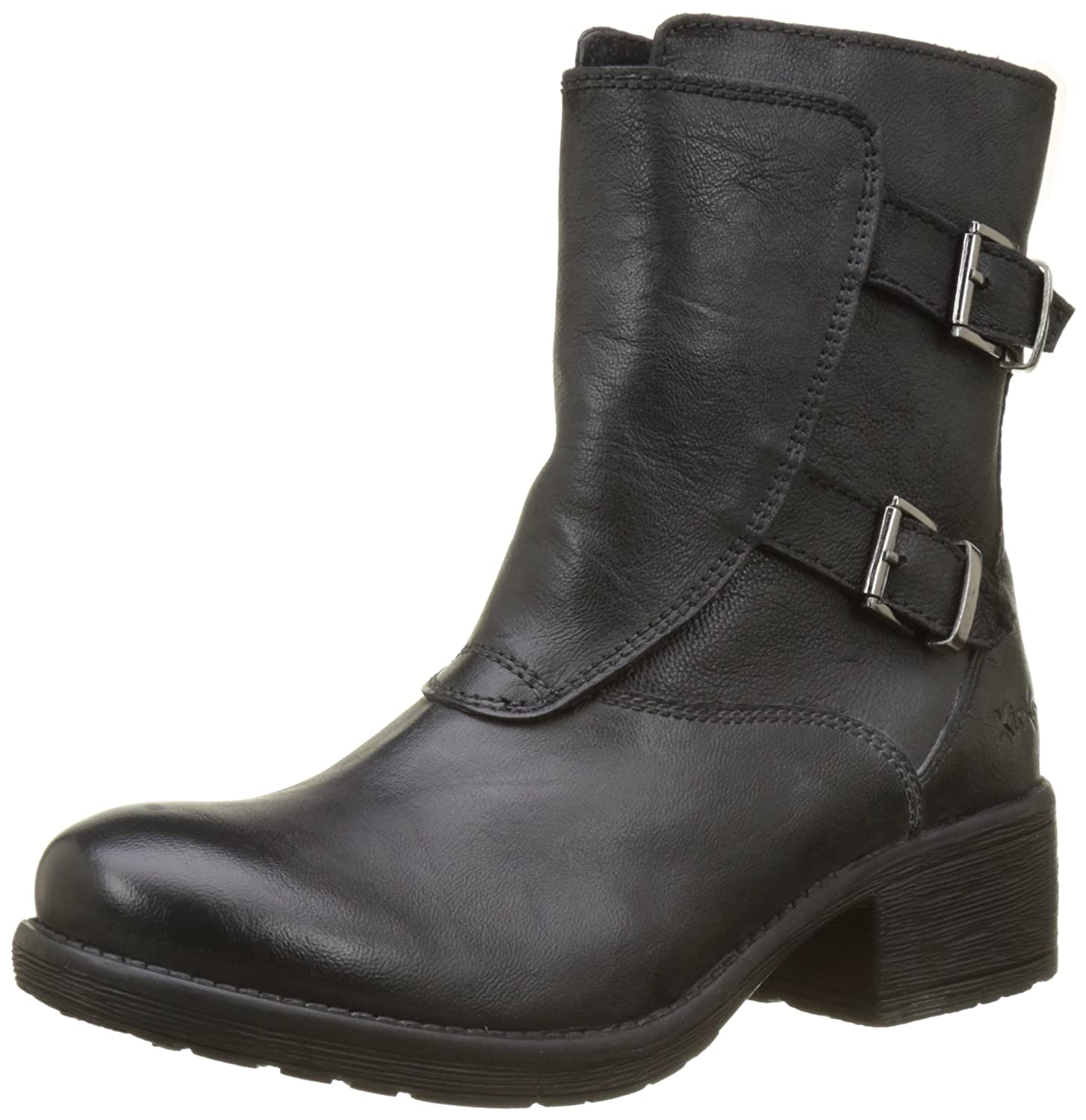 ee90494a Kickers Women 589040-50-8 Biker Boots Black Size: 6 UK: Amazon.co.uk ...