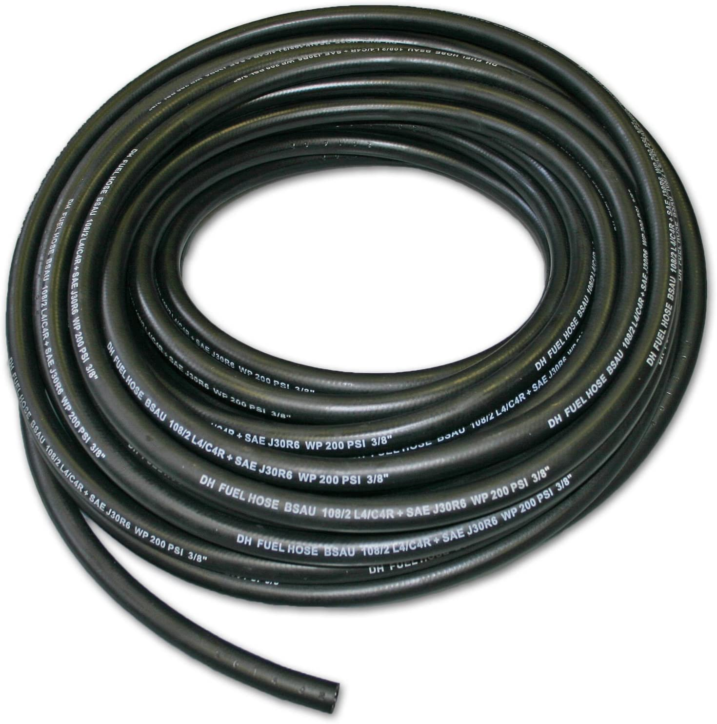AutoSilicone. 5mm ID Black 3 Metre Length Fuel and Oil Resistant Rubber Hose