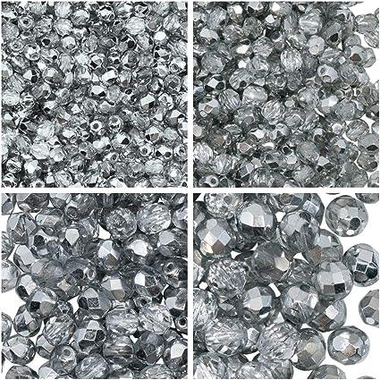 Fire-Polished Beads,Rotondo 3mm Crystal Amber 100pc Czech Perle Sfaccettato vetro