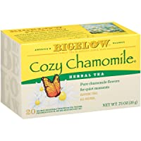 Bigelow Cozy Chamomile Herbal  Tea Bags, 20 Count Box (Pack of 6) Caffeine Free...