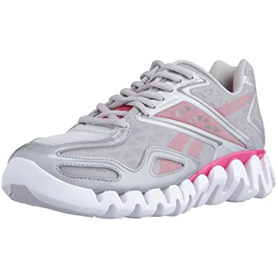 f7dd6a1139e5 Reebok Women s ZigSonic Running Shoe Steel Pure Silver Indian Magenta 7.5  B(M) US  Amazon.in  Shoes   Handbags