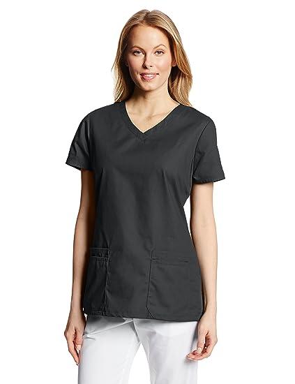 d0fcb7450a240 Amazon.com: Dickies Women's EDS Signature Scrubs Jr. Fit V-Neck Top ...