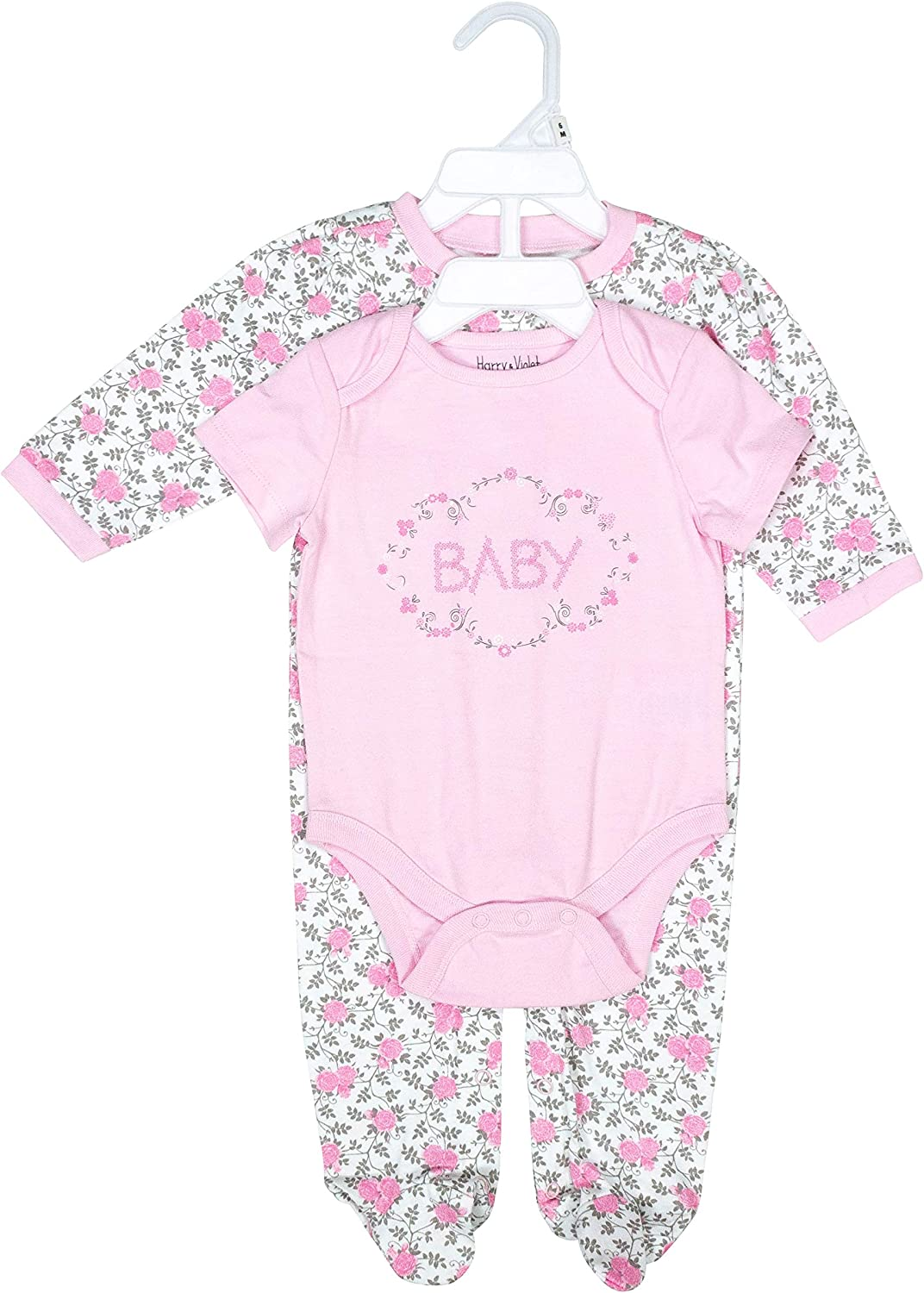 Pink 6-9 Months Harry /& Violet Layette Set For Baby Girls; Cute And Lovable Baby Layette