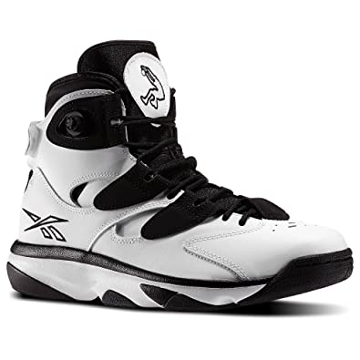 Reebok Mens SHAQ ATTAQ IV Hi Top Basketball Shoes White Black Size 15